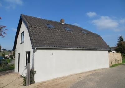 Buiten stucadoorwerk en onderhoud woonhuis Lingedijk Geldermalsen